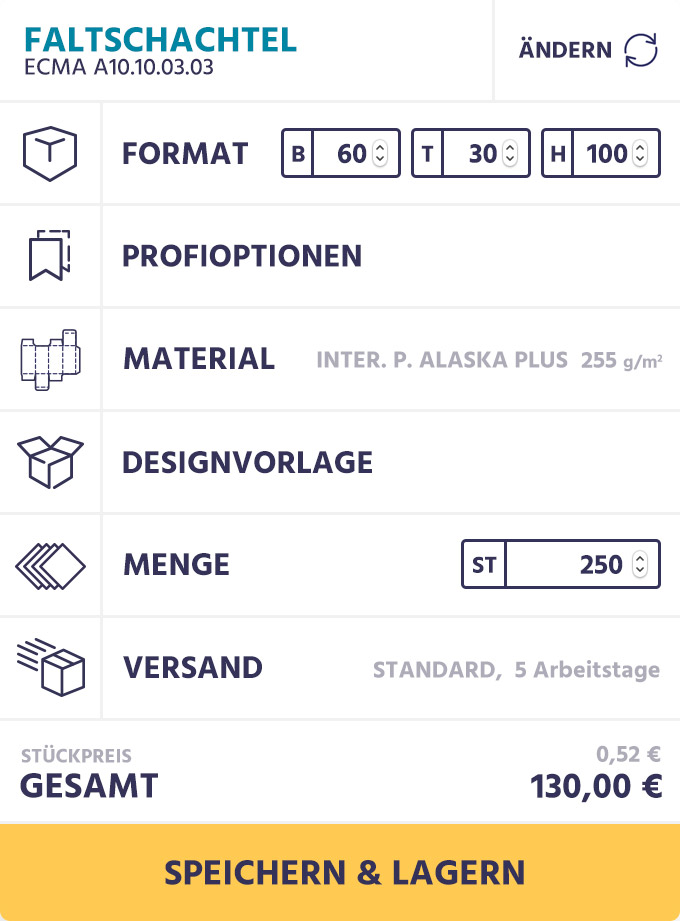 Darstellung der Kostenkontrolle in der App