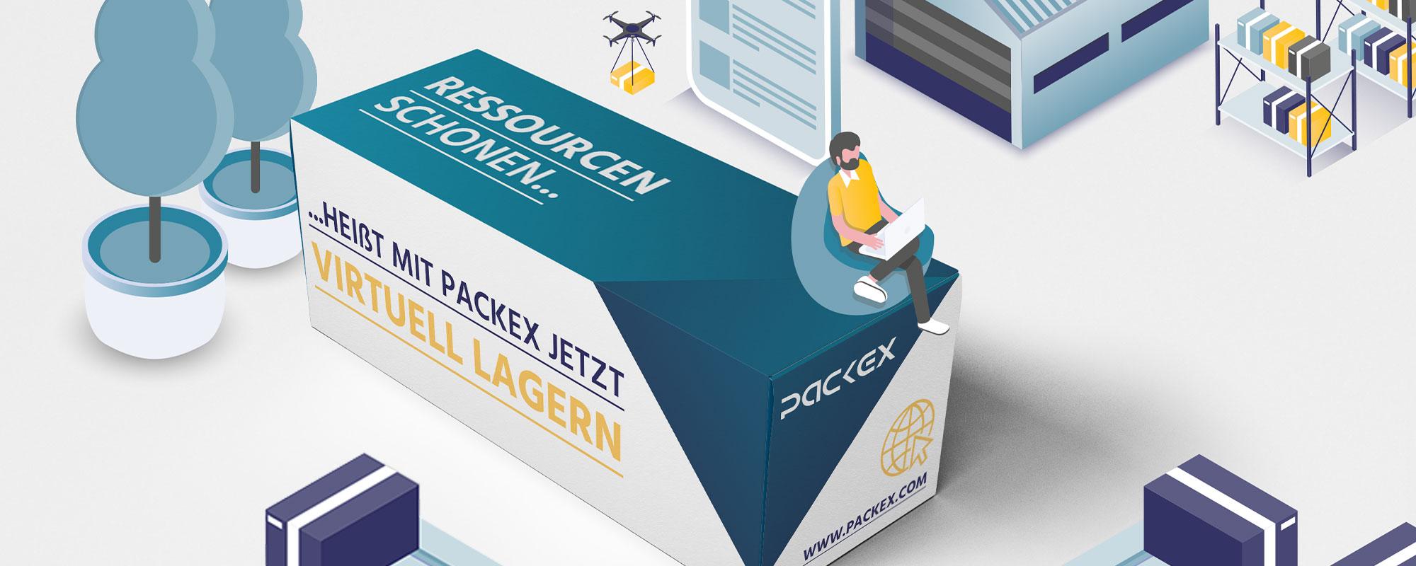 Illustriertes Beispiel einer Faltschachtel von PackEx.