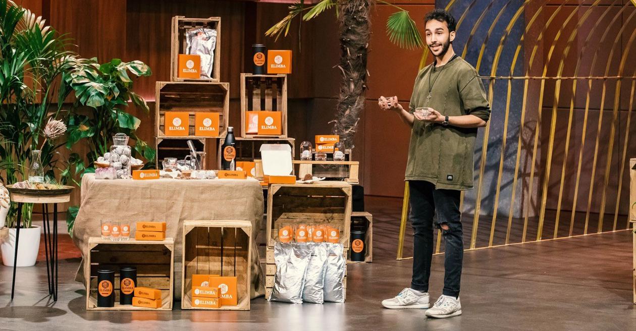 """Elimba Gründer Elias in der TV-Show """"Die Höhle der Löwen"""""""