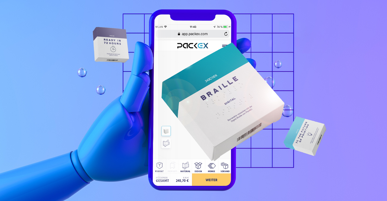 Digital Braille für Faltschachteln PackEx