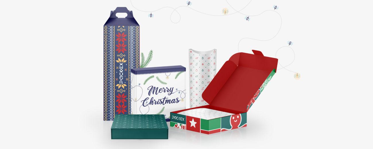 Schachteln für Weihnachten